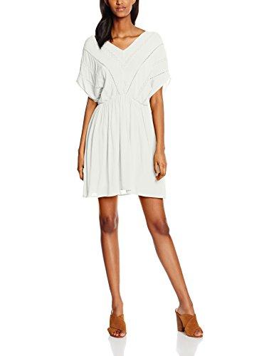 VERO MODA Damen Kleid Vmcrinkla S/S Short Dress, Weiß (Snow White Snow White), 36 (Herstellergröße: S)