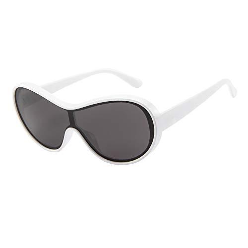 Produp Womens Mens Fashion Vintage Tourism Film Trend Classic Einteilige Sonnenbrille mit großem Rahmen und Sonnenbrille