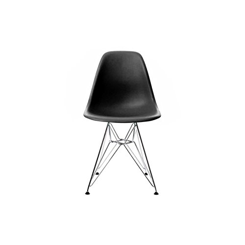 MOF Inspired Eiffel Dining Plastic Chairs Metal Legs Modern Lounge Office  Furniture(Black, 1