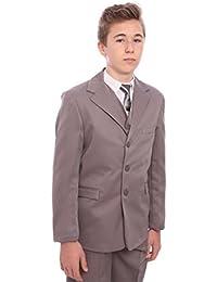 Sade Boys Grey Suit 5 Piece Age 1-15 Years