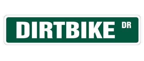 SignMission Dirtbike Straßenschild, Motocross Racer Racing Schilder BMX, Indoor/Outdoor, 61 cm breit 4
