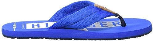 Tommy Hilfiger B2285uddy 14d, Sandales Bout Ouvert Homme Bleu (Imperial Blue)