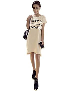 ad46ce09c867 BOZEVON Estate Moda Vestito di Allattamento Maternità con Semplice Moda  Lettera Stampa