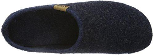 Living Kitzbühel  Pantoffel Lederlogo, Chaussons pour homme Bleu - Blau (590 nachtblau)