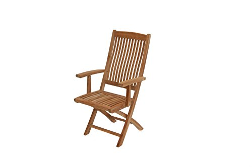 Ploß Outdoor furniture Chaise Pliante avec accoudoirs 61 x 55 x 102 cm Naturel