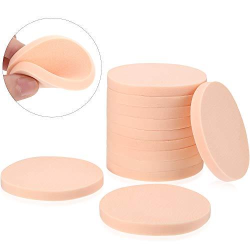12 Packungen Gesichtsfarbe Schwamm Set Makeup Schwamm Runde Schwamm Puff Einheit Größe Erwachsene Unisex Schaum Schwämme (Stil A)