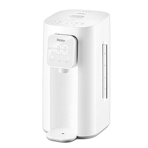 Haier HBM-F25 2.0 Liter Wasserkocher und Wärmer mit LED Digital Display, Edelstahl Innen in weiß (Combi Wasser)