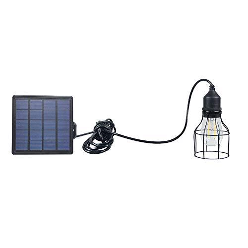 DSstyles LED Wasserdichte Retro Solar Power Pendelleuchte Straßenlampe für Outdoor Hof, Garten, Flur, Solar Kronleuchter Lantern