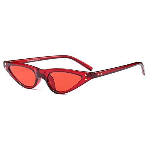 TYJYTM Frauen-kleine ovale Rahmen-Sonnenbrille-einzigartige Brillen-lustige Sonnenbrille-populäre Mann-Schatten-Sonnenbrille UV400-Gläser