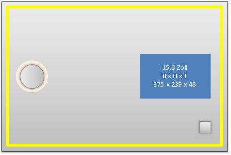 Homespiegel, TvSpiegel 15,6 Zoll LED-TV (ca.40 cm) mit LED Beleuchtung -Schminkspiegel Links-Steckdose Rechts- Bildschirm Platz Rechts- Capital TV61LE - , B/H: 120x70 cm -