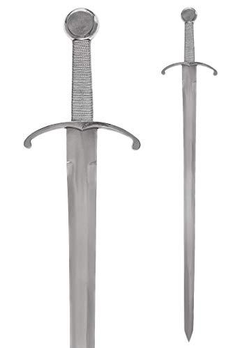 Mittelalterliche Schwert Einhänder aus Stahl - Gesamtlänge 92,5 cm - aus echtem Metall - Ritterschwert