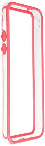 Horny Protectors iP5c-4012c TPU Silikon Schutzhülle für Apple iPhone 5c (nicht 5S) transparent/gelb Transparent Rot