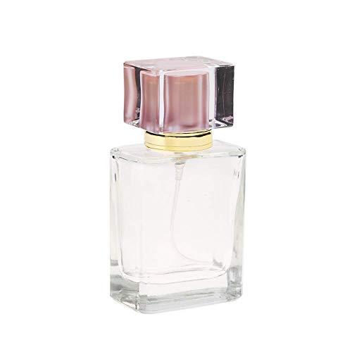 MODEOR Empty Perfume Bottle, Refillable Perfume Atomizer 50ml Metal Sprayer Pump Bottle Travel Portable Perfume Atomizer(Pink) -