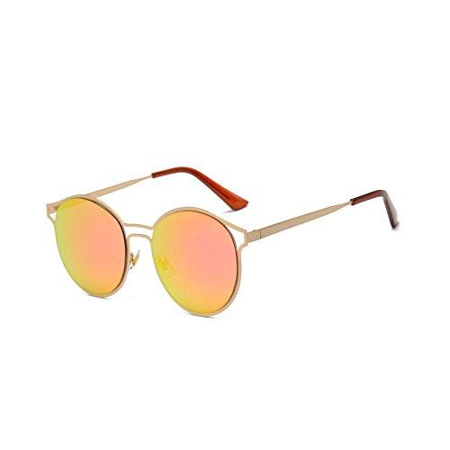 Winwintom Mujeres Hombres Vintage Retro moda gafas de aviador unisex espejo lente gafas de sol viajes (Colour C)