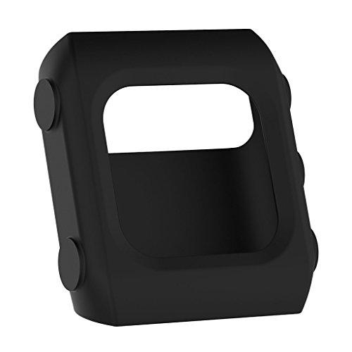 copertura della shookproof sharplace uno stile elegante custodia in silicone protector per polar v800gps orologio sportivo, nero