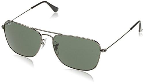 Ray-Ban Unisex Sonnenbrille Rb 3136 Grau (Gestell: Gunmetal, Gläser: Grün Klassisch 004) Large (Herstellergröße: 58)