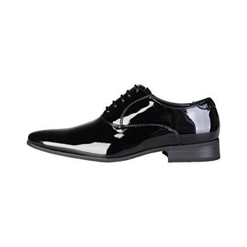 Pierre Cardin Hombre M71291 Negro Cuero Zapatos Oxford Cordones 8 UK