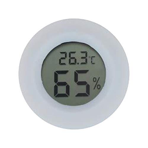 Vosarea Rundes Luftfeuchtigkeit Hygrometer Mini Feuchte Temperatur Messgerät Tragbar für Innenraum und Außen (Weiß)