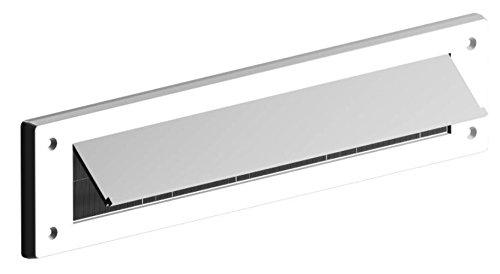 Bulk Hardware bh05982Buchstabe Briefkasten Bürste Zugluftstopper mit Klappe, 343x 80mm (13,1/5,1cm X 3.1/20,3cm)-Weiß