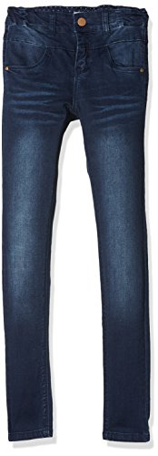 NAME IT Mädchen NKFPOLLY DNMTRILLE 3001 Pant NOOS Jeans, Blau (Dark Blue Denim), 140