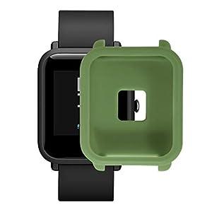 ⌚Weiche Silikonhülle für Huami Amazfit Bip Youth Watch mit Displayschutz,Soft Silicon Case Cover for Huami Amazfit Bip Youth Watch with Screen Protector