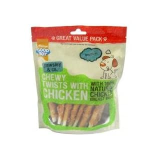 Good Boy Pawsley and Co Chewy Twists with Chicken 320g VALUE PACK Pack of 3