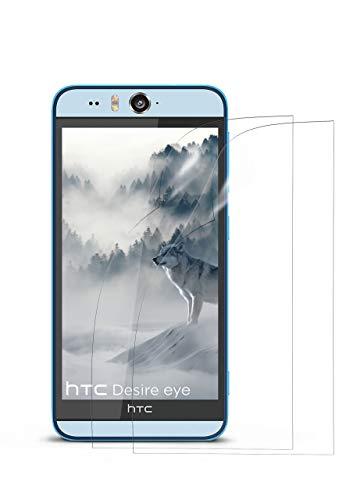 moex 2X HTC Desire Eye | Schutzfolie Klar Bildschirm Schutz [Crystal-Clear] Screen Protector Display Handy-Folie Dünn Bildschirmschutz-Folie für HTC Desire Eye Bildschirmfolie