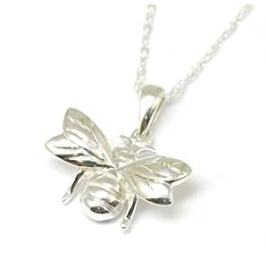 """925 Silver Bumble Bee Pendant on 18"""" Chain"""