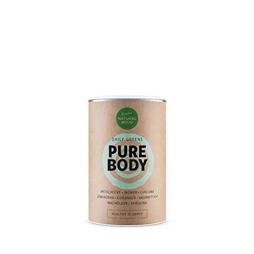 Natural Mojo Pure Body - Body Cleanse Kur (200 g) - acht wertvolle Superfoods - 28-Tage-Kur für ein tolles, neues Körpergefühl - Vegan, laktose- und glutenfrei (Detox Cleansing Body)