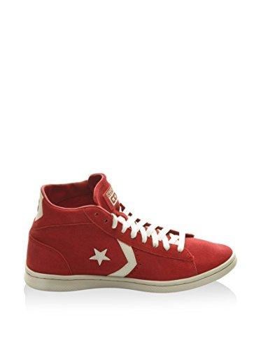 Converse Pro Leather Lp Mid Suede Zip T, Baskets Basses Femme Rouge