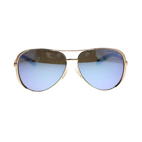 Michael Kors MK5004 Chelsea polarisierte Sonnenbrille Rose Gold w/Lila Spiegel (1003-1022) MK 5004 100322 59mm Authentic ROSE GOLD