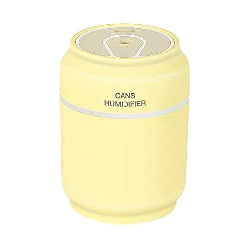 VORCOOL Humidificador de Aire humidificador difusor Mini Niebla humidificador latas portátiles en Forma de Coche para el hogar Oficina Escritorio Amarillo