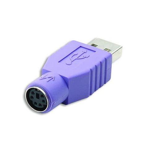 Cablepelado - Adaptador PS2 a USB M/H morado