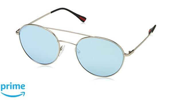Prada Sport Herren Sonnenbrille 0PS51SS 1AP2F2, Silber (Matte Silver/Polargrey Silver), 51