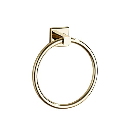Handtuchring, Bronze Holder Bath Hand Rack Hanger, Badezimmer-Accessoires-einfach und bequem, stark und langlebig, Wall Mount Can Be Easily montiert ON Variety Oberflächen, 6,4 Zoll (Gold),Gold -