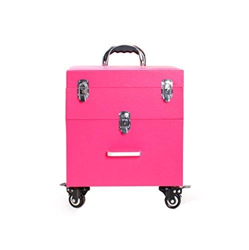 ZBBZ-BAG Coffrets de voyage cosmétiques Boîte de cosmétiques Grand format professionnel de mode, Maquillage de valise Maquillage Boîte de beauté Boîte à outils de polonais à ongles (style : #1)