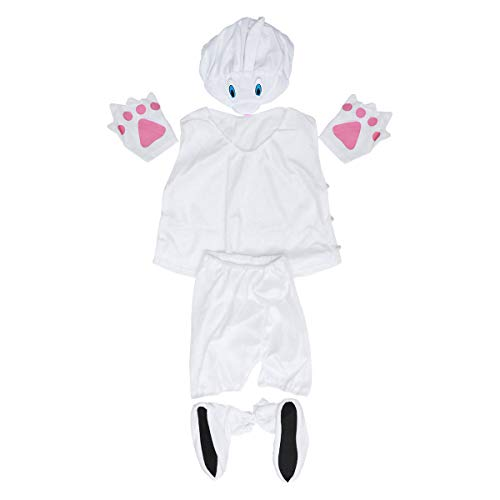 BESTOYARD Nette Tiere Cosplay Kostüm Cartoon Outfit Tier Party Maskerade für Kinder Kinder-Größe L (White Rabbit)