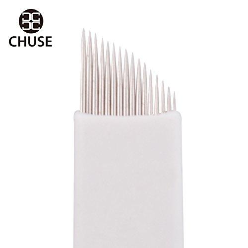 aiguilles microblading lames Maquillage permanent Manuel Sourcils tatouage Curved Lame 50 pièces Chuse S16