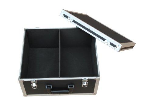 Single Schallplatten Koffer schwarz/silber Protected