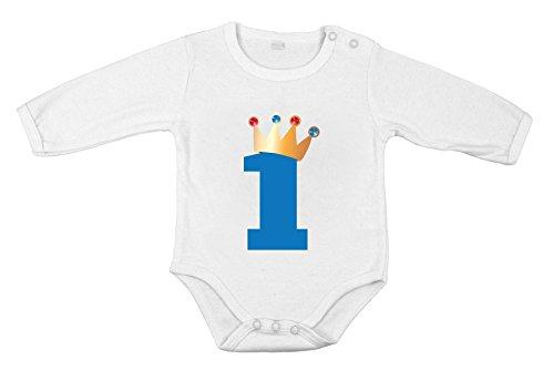Premier Anniversaire de bébé Nouveau-né CottonBoy Bodysuit Longue Cadeau One-Piece Roi