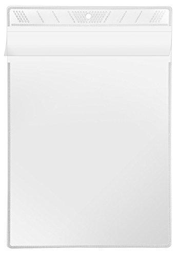 Veloflex 3305010 Sichttasche A5, Schutzhülle, Sichthülle, Aufhängehülle, zum Aufhängen, glasklar, 10 Stück
