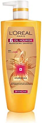 L'Oreal Paris 6 Oil Nourish Shampoo, 640ml (With 10% Ex
