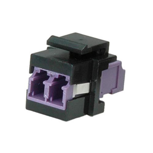 ROLINE 21170002 Keystone LWL-Adapter LC/LC Duplex, Multimode, OM4 schwarz/lila -