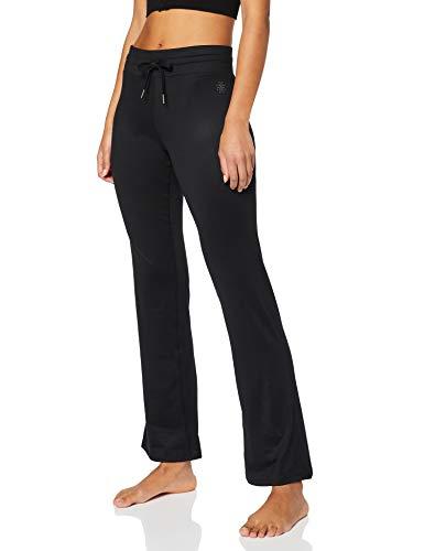 AURIQUE Damen Yoga-Hose Schwarz (Black Black), 38(Herstellergröße: M)