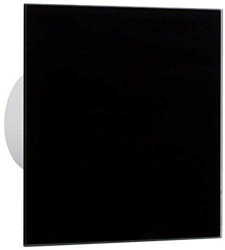MKK - 18564-005 - Badventilator Wohnraumlüfter Front Echtglas schwarz Ø100-Ø125 mm Ø 100 mm Feuchtesensor/Hygrostat (Badezimmer-ventilator-lichtschalter)