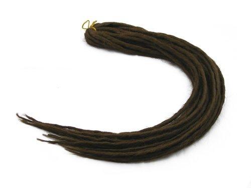 Elysee star dreads-#10, colore: marrone a doppia estremità per chitarra dread dreadlocks sintetico