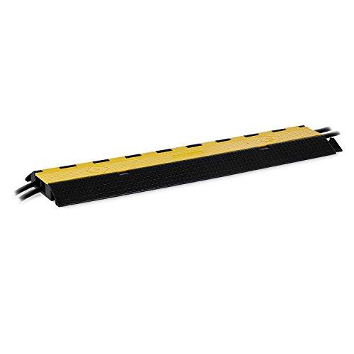 FrontStage CP-2CH • Kabelbrücke • Kabelsicherung • 2 Kanäle • 20 Tonnen Belastung • schützt vor Kabelbruch • Ordnen und Sichern von Kabeln • schwarz-gelb
