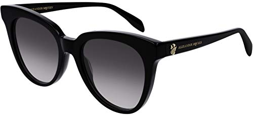 Alexander mcqueen occhiali da sole am0159s black/grey shaded 53/19/150 donna