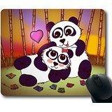 Gaming Maus Pad Eco Naturkautschuk Custom länglichen Panda Love Herz Paar Mousepad Computer-Schreibtisch Stationery Zubehör Maus Pads für Geschenk