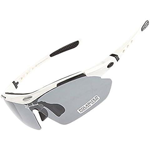 ROCKBROS Outdoor Occhiali polarizzato Sunglasses UV Glasses Occhio Protezione (Windproof,